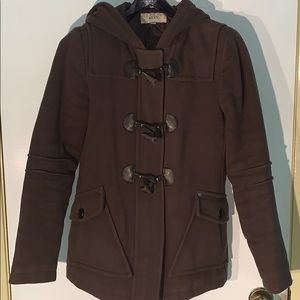 ROXY Hooded Toggle button wool coat - a beauty :)